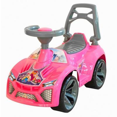 Каталка-машинка RT Ламбо розовый от 10 месяцев пластик ОР021