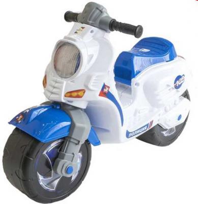 Каталка-мотоцикл RT СКУТЕР Полиция бело-синий от 18 месяцев пластик