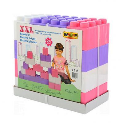 40107 Конструктор строительный XXL, Wader, 24 элемента, 44,5x23,0x42,0