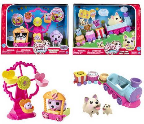 купить Игровой набор Chubby Puppies Паровозик/Колесо обозрения недорого