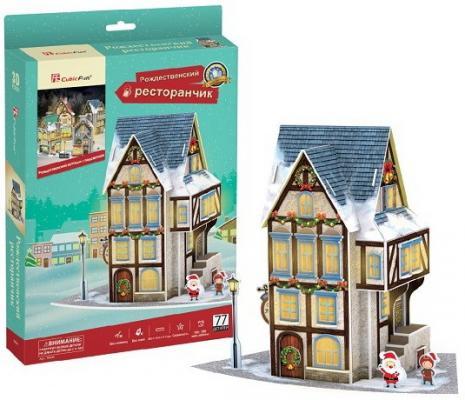 Рождественский коттедж 4 (с подсветкой) cubicfun рождественский коттедж 3 с подсветкой p803h