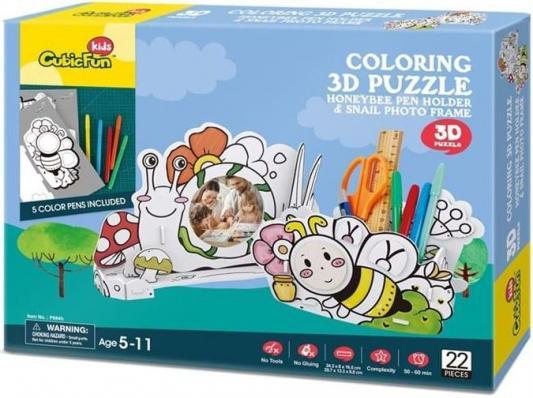 Купить Пазл 22 элемента CubicFun Пчела и улитка P694h, Пазлы для малышей