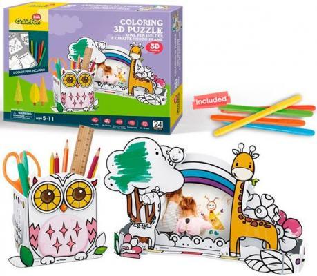 Купить Пазл CubicFun Сова и жираф P695h, Пазлы для малышей