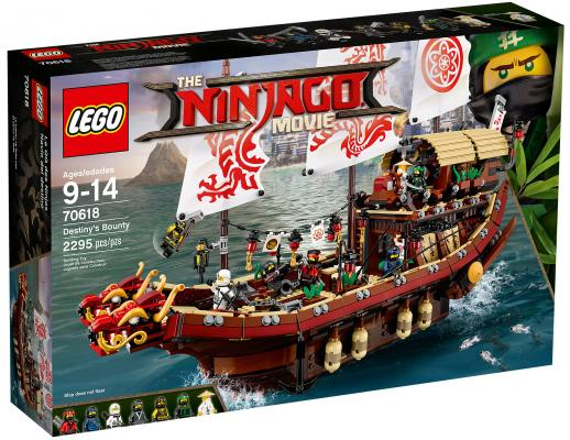 Конструктор LEGO Ninjago Movie Летающий корабль Мастера Ву 2295 элементов 70618