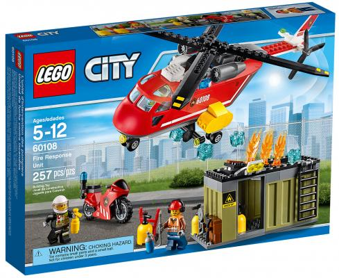 Конструктор LEGO City: Пожарная команда быстрого реагирования 257 элементов 60108 lego city конструктор гоночная команда 60148