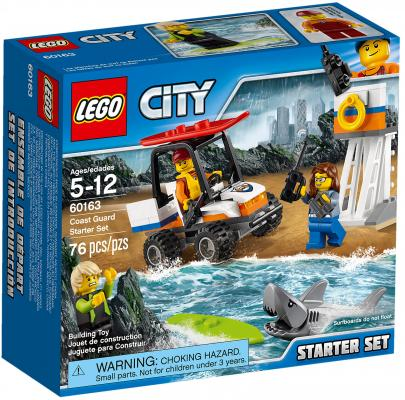 Конструктор LEGO City: Набор для начинающих - Береговая охрана 76 элементов 60163 lego lego city 60120 набор для начинающих исследователи вулканов