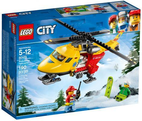 Конструктор LEGO City: Вертолёт скорой помощи 190 элементов 60179 конструктор lego lego 42057 конструктор сверхлёгкий вертолёт
