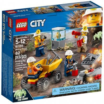 Конструктор LEGO City: Бригада шахтеров 82 элемента конструктор lego city багги для поездок по джунглям 53 элемента 60156