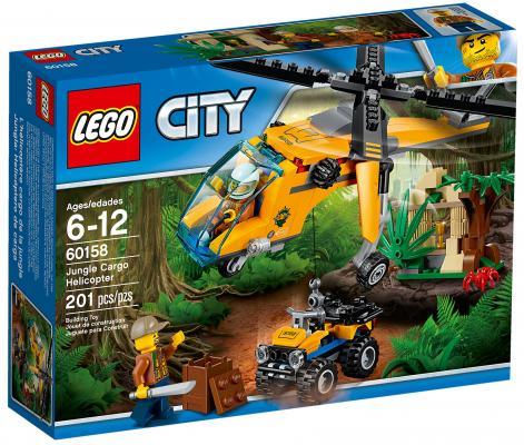 Конструктор LEGO City: Грузовой вертолёт исследователей джунглей 201 элемент 60158