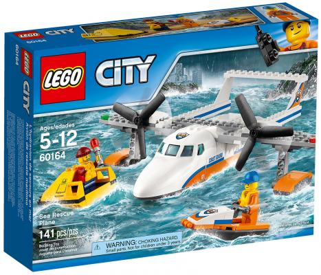 Конструктор LEGO City: Спасательный самолет береговой охраны 141 элемент 60164