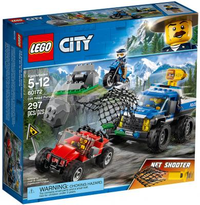 Конструктор LEGO City: Погоня по грунтовой дороге 297 элементов 60172 цены
