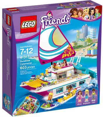 Конструктор LEGO Friends: Катамаран Саншайн 603 элемента 41317 lepin 01038 friends sunshine catamaran dolphins olivia stephanie girl building block compatible with legoing 41317 brick toy