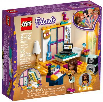Конструктор LEGO Friends: Комната Андреа 85 элементов 41341