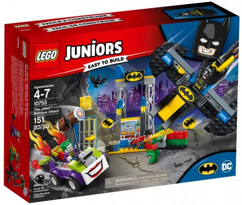 Конструктор LEGO Juniors: Нападение Джокера на Бэтпещеру 151 элемент 10753 lego конструктор супер герои нападение на башню мстителей lego 76038