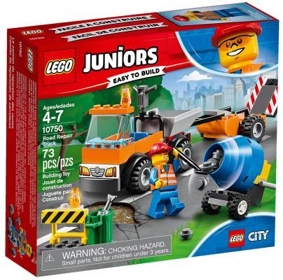Конструктор LEGO Juniors: Грузовик дорожной службы 73 элемента 10750