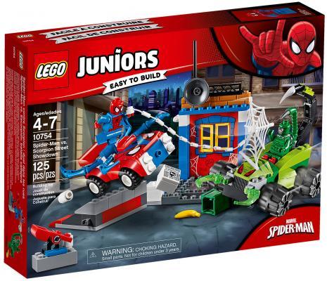 Конструктор LEGO Juniors: Решающий бой Человека-паука против Скорпиона 125 элементов 10754 конструктор lego juniors 10737 бэтмен против мистера фриза