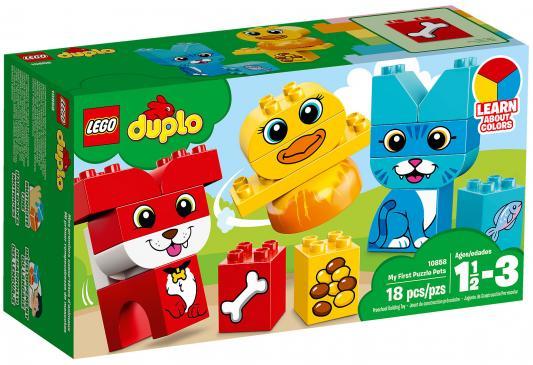 Конструктор LEGO Duplo: Мои первые домашние животные 18 элементов 10858