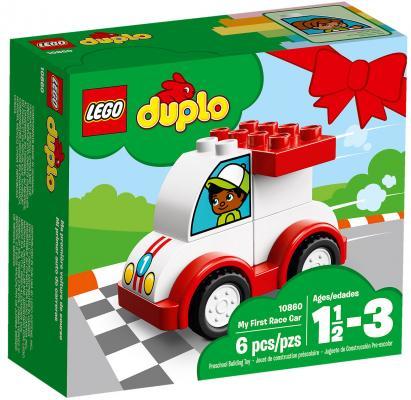 Конструктор LEGO Duplo: Мой первый гоночный автомобиль 6 элементов 10860 конструктор lego duplo мой первый поезд 10507