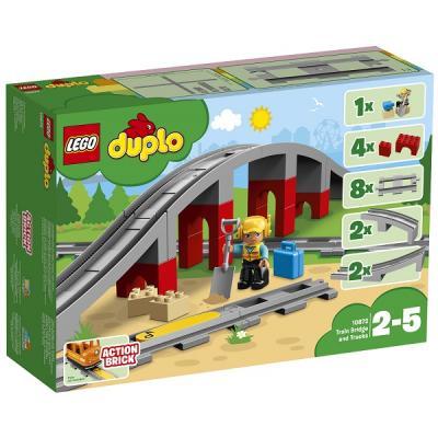 Конструктор LEGO Железнодорожный мост и рельсы 17 элементов