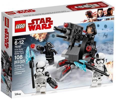 Конструктор LEGO Star Wars: Боевой набор специалистов Первого Ордена 108 элементов 75197