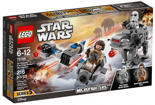 Конструктор LEGO Star Wars: Бой пехотинцев Первого Ордена против спидера на лыжах 216 элементов 75195 конструктор lego star wars бой пехотинцев первого ордена против спидера на лыжах 75195