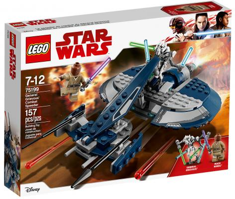 Конструктор LEGO Star Wars: Боевой спидер генерала Гривуса 157 элементов 75199 цена