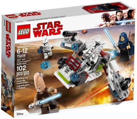 Конструктор LEGO Star Wars: Боевой набор джедаев и клонов-пехотинцев 102 элемента 75206 конструктор lego star wars боевой набор повстанцев 75164