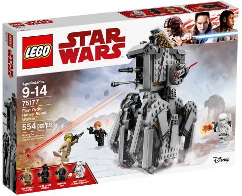 Конструктор LEGO Star Wars: Тяжелый разведывательный шагоход Первого Ордена 554 элемента 75177 конструктор lego star wars 75132 боевой набор первого ордена