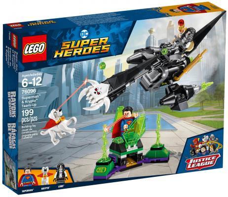 Конструктор LEGO Super Heroes: Супермен и Крипто объединяют усилия 199 элементов 76096