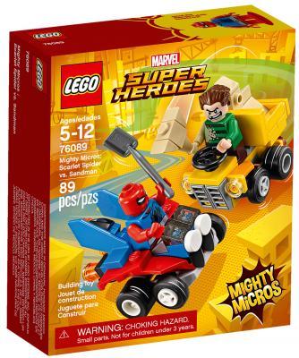 Конструктор LEGO Super Heroes: Mighty Micros - Человек-паук против Песочного человека 89 элементов конструкторы lego lego super heroes mighty micros чудо женщина против думсдэя 76070