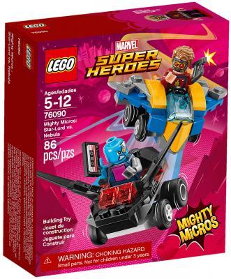 цена на Конструктор LEGO Super Heroes: Звёздный Лорд против Небулы 86 элементов 76090