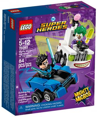 Конструктор LEGO Super Heroes: Mighty Micros - Найтвинг против Джокера 84 элемента 76093 конструктор lego super heroes mighty micros росомаха против магнето 76073