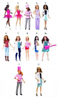 Купить Кукла MATTEL Кем быть? DVF50, пластик, текстиль, Классические куклы и пупсы