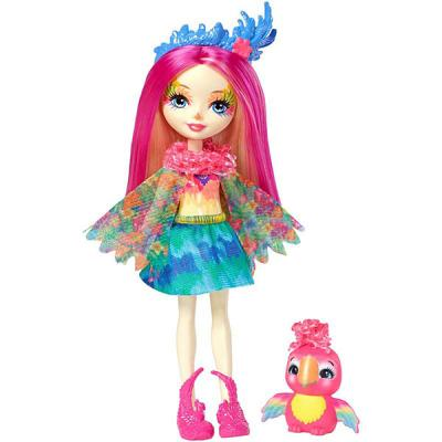 Кукла MATTEL Enchantimals Кукла с любимой зверюшкой – Пикки Какаду 15 см FJJ21 mattel mattel кукла золушка принцессы диснея балерина