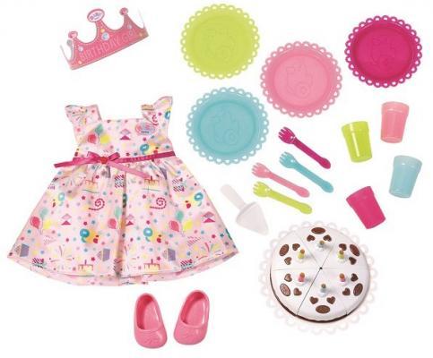 Набор аксессуаров для кукол Zapf Creation Набор для празднования Дня рождения кукла zapf creation baby born набор для празднования дня рождения 825 242