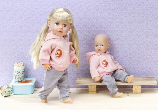 Тренировочный костюмчик для куклы Zapf Creation Беби бон