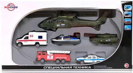 Набор Wincars Cпециальная техника разноцветный 86048-C танки и военная техника wincars набор машинок wincars автоперевозчик военная техника 1 70 в асс