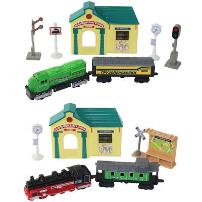 ТМ Wincars набор железнодорожная станция поезда и аксессуары