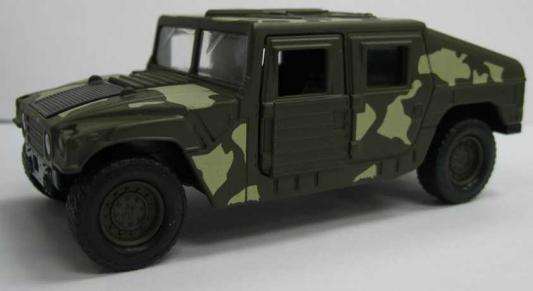 Джип Welly Военный бронированный автомобиль камуфляж 99192CM