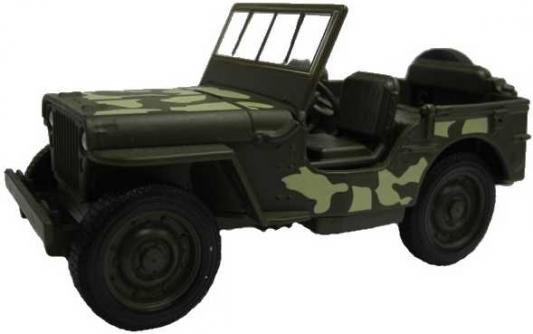 Джип Welly Военный автомобиль камуфляж 43723CM