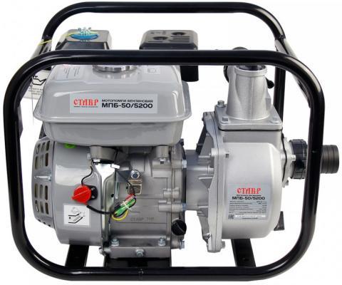 Мотопомпа бензиновая СТАВР МПБ-50/5200 7лс 36000л/ч глубина 8м высота 27м