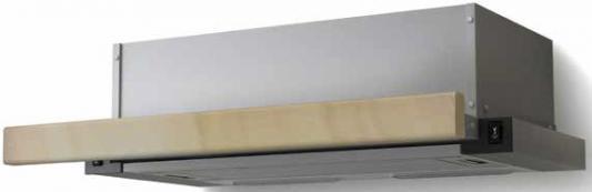 Вытяжка встраиваемая Lex Hubble 600 RAW нержавеющая сталь/бук неокрашенный управление: кнопочное (1 мотор) lex hubble 2m 600