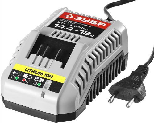 Зарядное устройство ЗУБР БЗУ-14.4-18 М1 мастер импульс универсальное интелектуальное 14-18В