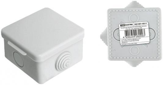 Коробка распаячная ТДМ SQ1401-0511 ОП 65х65х50мм крышка IP54 4вх. инд.штрихкод