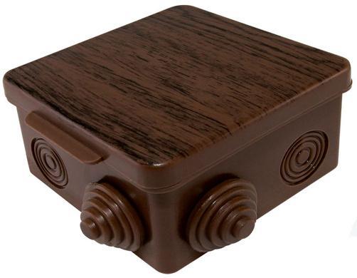 Коробка распаячная ТДМ SQ1401-0612 80х80х50мм крышка бук IP54 7вх.