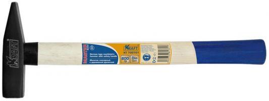 Молоток слесарный KRAFT КТ 700701 с деревянной рукояткой 800г слесарный молоток с деревянной рукояткой 1000гр sata 92406