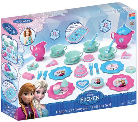 """Игровой набор посуды для чая """"Холодное сердце"""" большой игровой набор посуды для чая bildo холодное сердце 32 пр"""