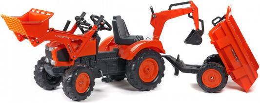 Каталка-самосвал Falk Трактор-экскаватор красный от 3 лет пластик FAL 2090Z tomy трактор john deere 6830 с двойными колесами и фронтальным погрузчиком с 3 лет