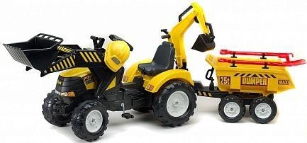 Каталка-трактор Falk Трактор экскаватор желтый от 3 лет пластик FAL 1000WH каталка квадроцикл falk принцесса лиловый от 3 лет пластик fal608