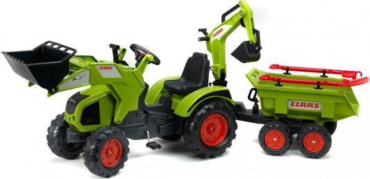 Каталка-самосвал — трактор-экскаватор зеленый от 2 месяцев пластик FAL 1010WH каталка квадроцикл falk принцесса лиловый от 3 лет пластик fal608